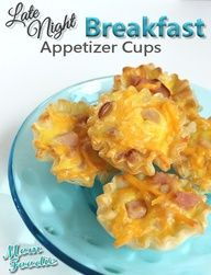 Ham  Cheese Phyllo Cups Easy Appetizer. Next new years eve party after midnight!