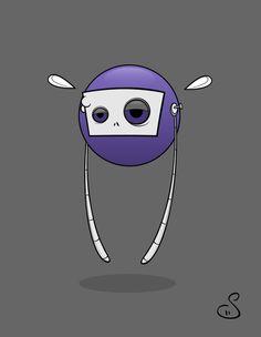 Flying Robot, Animated GIF by Stina Jones