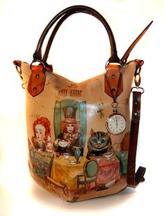 Alice in Wonderland bag, I would like it better if it was the original, not a fan of this version.