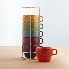 Stacking mugs, available at world market for $14.99 http://www.worldmarket.com/product/index.jsp?productId=11620330