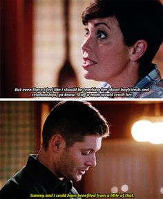 Supernatural 11x12 Don't You Forget About Me // Dean: Sammy and I could have benefited from a little of that. // Ouch, my heart