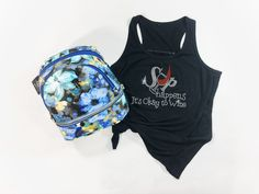 It's a new year & a new season, and that means new trends! Like this rhinestone Sip Happens Tank.
