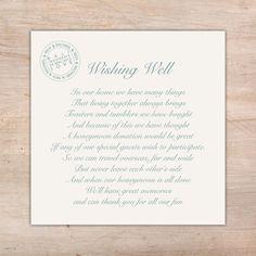 Destination Wedding Wording