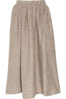 Acne wool midi skirt