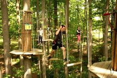 11.Challenge yourself in a treetop obstacle course in Swope Park.
