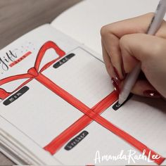 Who's started their holiday shopping already? 👀 🎁 (Full Holiday Bullet Journal Ideas video is on my YT channel! Bullet Journal Inspiration, Journal Ideas, May Bullet Journal, Mental Health Journal, Brain Dump, Planner Book, Christmas Shopping, Foto E Video, Diy And Crafts