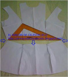 Trasladar pinza de costado al hombro y eliminar parcialmente pinza vertical