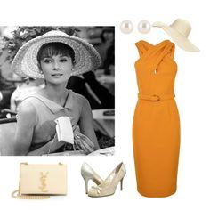 Icon: Paris When It Sizzles Orange Dress, created by stacie-fetterly-bonner on Polyvore