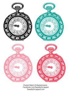 Freebie printable watches (this and 2 other) went to site, cute printables!