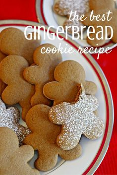 The Best Gingerbread Cookies Are you looking for the BEST gingerbread cookie recipe? This isn't the hard gingerbread recipe to make a house with. This recipe leaves a crispy cookie with a soft inside. These can be cutout with your favorite cookie cutter Ginger Bread Cookies Recipe, Cookie Recipes, Dessert Recipes, Almond Cookies, Chocolate Cookies, Ginger Cookies, Recipe Ginger, Holiday Cookies, Holiday Treats