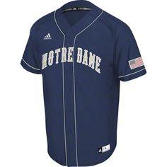 Notre Dame Fighting Irish Navy adidas Premier II Baseball Jersey