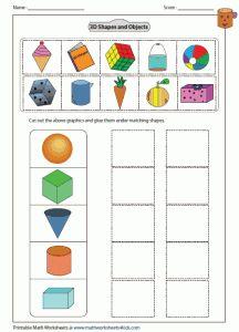 3d Shapes Worksheets Kindergarten – webmart.me