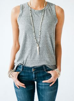 Spring / Summer Jewelry Trend | Long Natural Stone Necklaces with Antler Tips