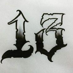trendy tattoo fonts chicano – # – tattoo … – Graffiti World Number 13 Tattoos, Number Tattoo Fonts, Tattoo Lettering Styles, Chicano Lettering, Graffiti Lettering Fonts, Graffiti Tattoo, Tattoo Design Drawings, Tattoo Script, Chicano Script