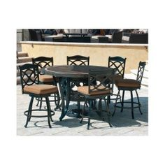 Patio Furniture Outdoor Dining Set Garden Pool Patio Table Chairs Deck Cushions