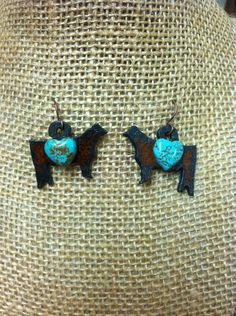 Hand-Made Show Cattle Earrings | Showring Silhouettes