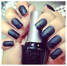 Black mate nails