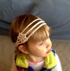 Crochet Headband for pretty girls by Thorawish