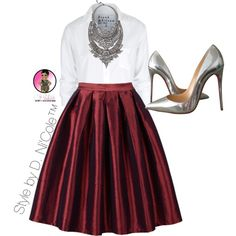 Untitled #2790 by stylebydnicole on Polyvore featuring Frank & Eileen, Christian Louboutin and DYLANLEX