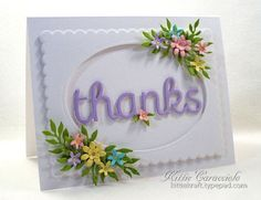 Floral Framed Thanks FS485 by kittie747 at Splitcoaststampers