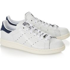 adidas Originals Stan Smith cracked-leather sneakers, Women's, Size:... (78 AUD) ❤ liked on Polyvore featuring shoes, sneakers, perforated shoes, adidas originals trainers, tennis sneakers, tenny shoes and tennis trainer