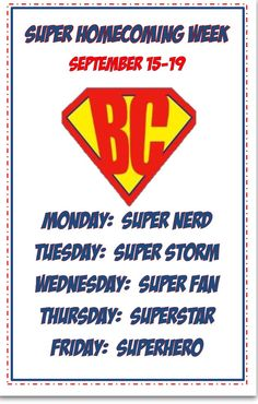 Super Homecoming Spirit Days- other than the super nerd. Homecoming Decorations, Homecoming Themes, Homecoming Spirit Week, Homecoming Dresses, Spirit Week Themes, Spirit Day Ideas, Spirit Weeks, Student Council Activities, Student Council Campaign