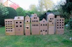 building cardboard city like this, but bigger would be a great idea, and it is very realistic.