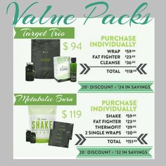 If your goal is to burn calories, fight fat, and build muscle as you tighten, tone, and firm, then this is THE Pack for you. The Metabolic Burn Pack has been synergistically designed to support your weight loss goals!