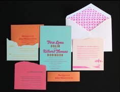 die-cut invite