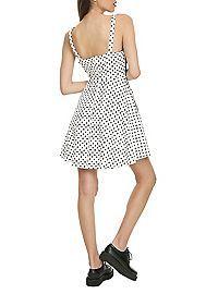 HOTTOPIC.COM - White & Black Skulls & Dots Dress