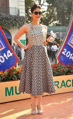 Kareena Kapoor in Ashish N Soni Spring 2014 Casual Frocks, Casual Dresses, Fashion Dresses, Summer Dresses, Maxi Dresses, Western Dresses, Western Outfits, Indian Dresses, Indian Outfits