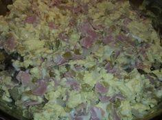 Green chili ham & eggs