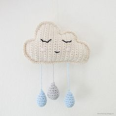 LiteVirkning Crochet Baby Mobiles, Crochet Mobile, Crochet Baby Toys, Crochet Diy, Crochet Animals, Crochet For Kids, Crochet Dolls, Knitting Projects, Crochet Projects