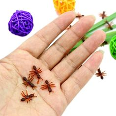 10PCS Christmas Gift Ant Prank Funny Trick Joke Special Lifelike Model Fake Ant Toy Event Party Practical Jokes Gag Toys