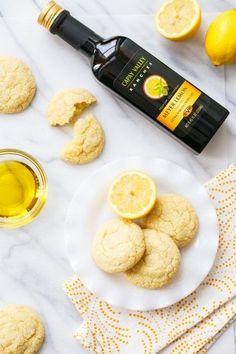Meyer Lemon Olive Oil Sugar Cookie recipe. Great for the holidays and a wonderful holiday dessert idea!