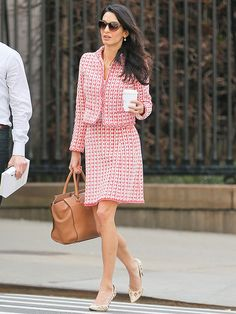 Amal Clooney Is the Best Dressed Teacher on the Planet http://stylenews.peoplestylewatch.com/2015/04/16/amal-clooney-style-oscar-de-la-renta-suit-nyc/