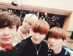 [#Wonho]: Filming Sukira with Reowook senior! It was great to see each other and to talk to monbebes after all this time!! Wait a little bit and let's meet on V app later #PrayForJapan #StayStrong