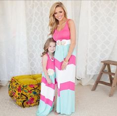 Mommy and Me Chevron Summer Dress – Anjou's Boutique