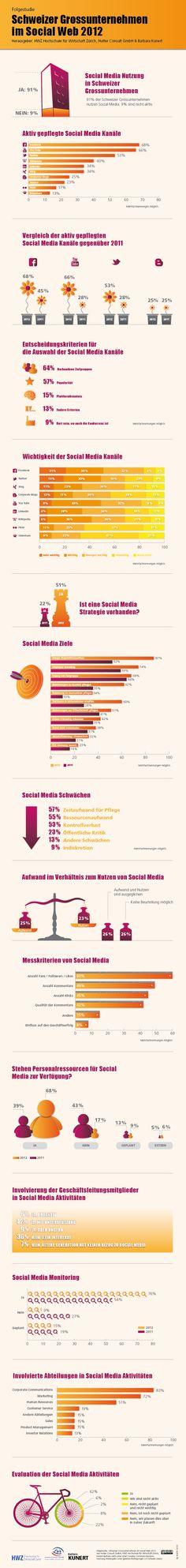 Schweizer Großunternehmen im Social Web