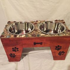 A personal favorite from my Etsy shop https://www.etsy.com/listing/473819325/dog-feeder-12-12-tall