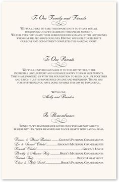 Unique Wedding Program Wording | Me She Barach Wedding Programs Please visit our website @ http://jewishhloidays2015.com
