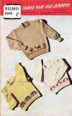 Weldons 880 baby jumper ORIGINAL vintage knitting pattern