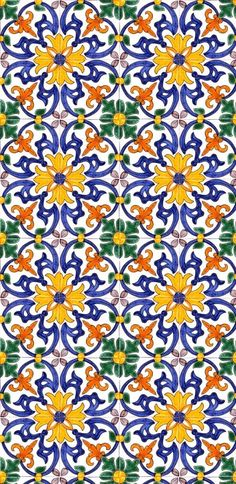 Wall tiles can either make or break a room and choosing the perfect design for your room is of the utmost importance. Tile Patterns, Textures Patterns, Print Patterns, Art Nouveau, Art Deco, Tile Design, Pattern Design, Mexican Pattern, Portuguese Tiles