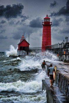 Michigan Grand Haven Lighthouse.