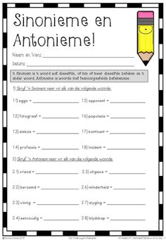 Afrikaans Language, Teachers Aide, 1st Grade Worksheets, Kids Learning Activities, Teacher Hacks, English Grammar, Funny Design, Funny Art, Education Quotes