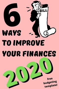 If you take a look at your last year, do you feel like you need to improve your finances in Check out these 6 ways to improve your finances! Budgeting Finances, Budgeting Tips, Investing Money, Saving Money, Finance Blog, Budget Template, Money Today, Managing Your Money, Financial Tips