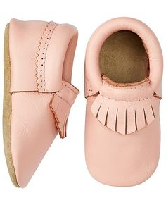 Fringe Baby Moccasins By Hanna from #HannaAndersson.