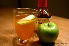 If you prefer green tea on a cold day, spice it up with a little Maker's and apple. #GreenTea #cocktail