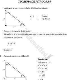Resultado de imagen para teorema de pitagoras   El teorema de ...