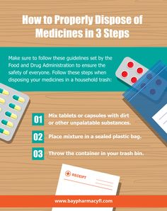 How to Properly Dispose of Medicines in 3 Steps #Medicine  #Pharmacy
